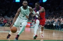 Jaylen Brown out with right thumb sprain for Celtics against Suns