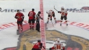 Wes McCauley kicks centermen out so Tkachuk brothers can face off