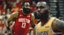 Lakers star LeBron James calls Rockets' James Harden 'one of the greatest scorers' in NBA history