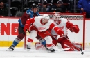 Detroit Red Wings unable to keep up with Avalanche, lose Green, Nielsen in 6-3 defeat