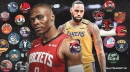 Rockets' Russell Westbrook joins LeBron James as only players with a triple-double against all NBA teams