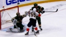Panthers' Acciari tips point shot past Wild's Stalock with 4.8 seconds left