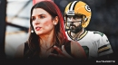 Danica Patrick reacts to 49ers fans consoling her during Aaron Rodgers' NFC Title game loss