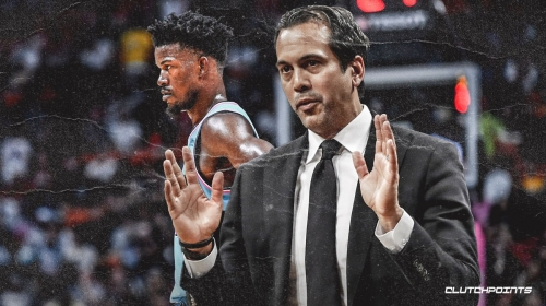 Erik Spoelstra reacts to Jimmy Butler not being All-Star starter