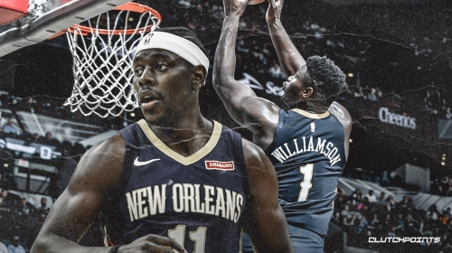 Video: Zion Williamson finishes alley-oop slam off lob from Jrue Holiday