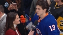 Barzal happy to win fastest skater, thought McDavid would catch him