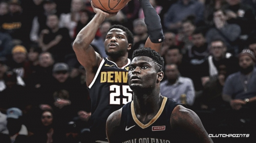 VIDEO: Pelicans' Zion Williamson swats Malik Beasley's shot to the stands