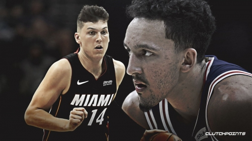 VIDEO: Heat's Tyler Herro points at Landry Shamet after made basket saying 'you can't guard me'