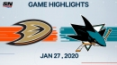 Marleau scores twice as Sharks top Ducks
