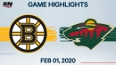 Four-point night for Krug drives Bruins past Wild