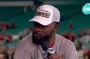 Damien Williams celebrates Super Bowl LIV with the NFL of FOX crew