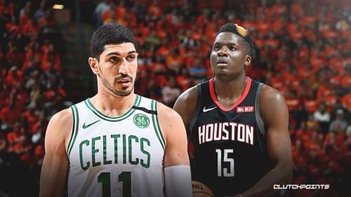 Celtics' Enes Kanter reacts to Clint Capela, Rockets trade rumors