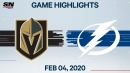 Stamkos' go-ahead goal leads Lightning to win over Golden Knights
