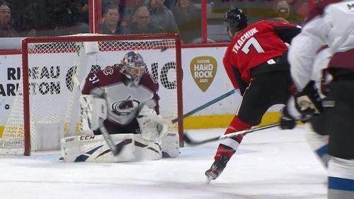 Senators' Brady Tkachuk snipes breakaway goal to tie Avalanche