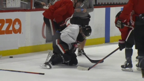 Namestnikov takes puck to the face at Senators practice, status unclear