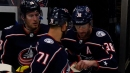 Boone Jenner loses a tooth, Nick Foligno hands it right back