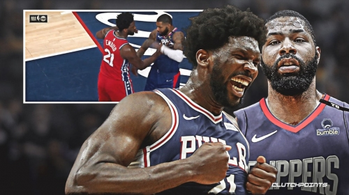 [VIDEO] Sixers' Joel Embiid, Clippers' Marcus Morris get into it after grueling low post battle