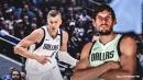 Mavs' Boban Marjanovic jokes Kristaps Porzingis 'not tall enough' after basketball wedgie moment