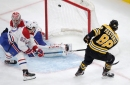 Pastrnak's latest hat trick helps power Bruins past Canadiens