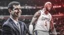 Celtics' Brad Stevens has hilarious reaction to Montrezl Harrell's dunk on Grant Williams