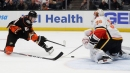 Talbot makes 44 saves for shutout as Flames rout Ducks