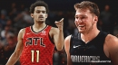 Hawks' Trae Young reacts to making the All-Star game with Mavs' Luka Doncic