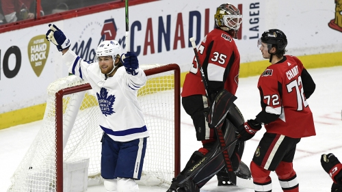 Well-rested Maple Leafs continue dominance of lowly Senators