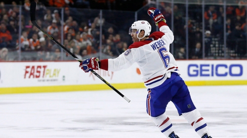 Canadiens' Shea Weber back at practice less than a week after diagnosis