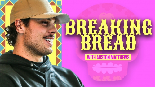 Auston Matthews eats traditional Mexican food while discussing Latin heritage