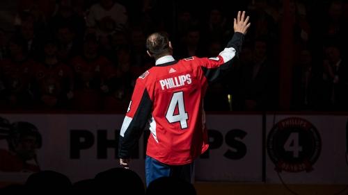 Senators celebrate humble hero Chris Phillips by retiring his No. 4