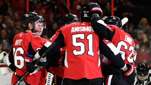 Anisimov, Pageau each score twice as Senators beat Sabres