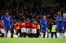 Chelsea eject Manchester United fans for alleged homophobic abuse at Stamford Bridge