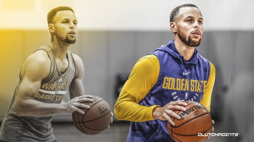 Warriors' Stephen Curry knocks down a dozen 3-pointers in a row in practice