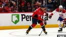 Alex Ovechkin rips one off the draw for 699th career goal