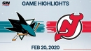 Subban's go-ahead goal leads Devils to win over Sharks
