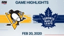Andersen stops 24 shots for shutout as Maple Leafs defeat Penguins