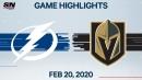 Martinez helps Golden Knights snap Lightning's 11-game win streak