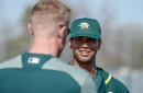 Four things we learned at A's HQ: Khris Davis' confidence is up, and a former assistant hitting coach explains his unorthodox routine