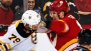 Tkachuk drops glove with Lauzon and lets speedy fists fly