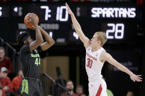 Michigan State basketball's Gabe Brown shakes funk with career-high scoring vs. Nebraska
