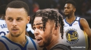 Stephen Curry argues flipping D'Angelo Russell for Andrew Wiggins 'makes sense' for Warriors