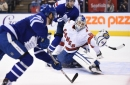 Emergency backup goalie David Ayres steals show in Canes' win over Leafs
