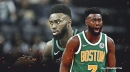 Celtics' Jaylen Brown thirsty for the playoffs after tough battle with Lakers