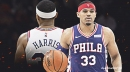 Tobias Harris adds to Sixers' injury concerns with knee contusion