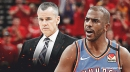Thunder's Chris Paul jokingly blames Billy Donovan for failing to get a triple-double vs. Spurs
