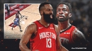 Rockets' James Harden's no-look pass leads to Jeff Green dunk vs. Knicks