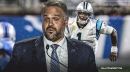 Panthers coach Matt Rhule is encouraged by Cam Newton's rehab process
