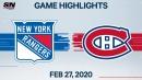 Rangers score five straight in comeback win vs Canadiens