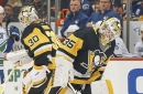 Will the Penguins stick with the hot goalie or the stickhandling one against the Capitals?