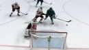 Evander Kane bats puck out of midair to score in dying seconds of period